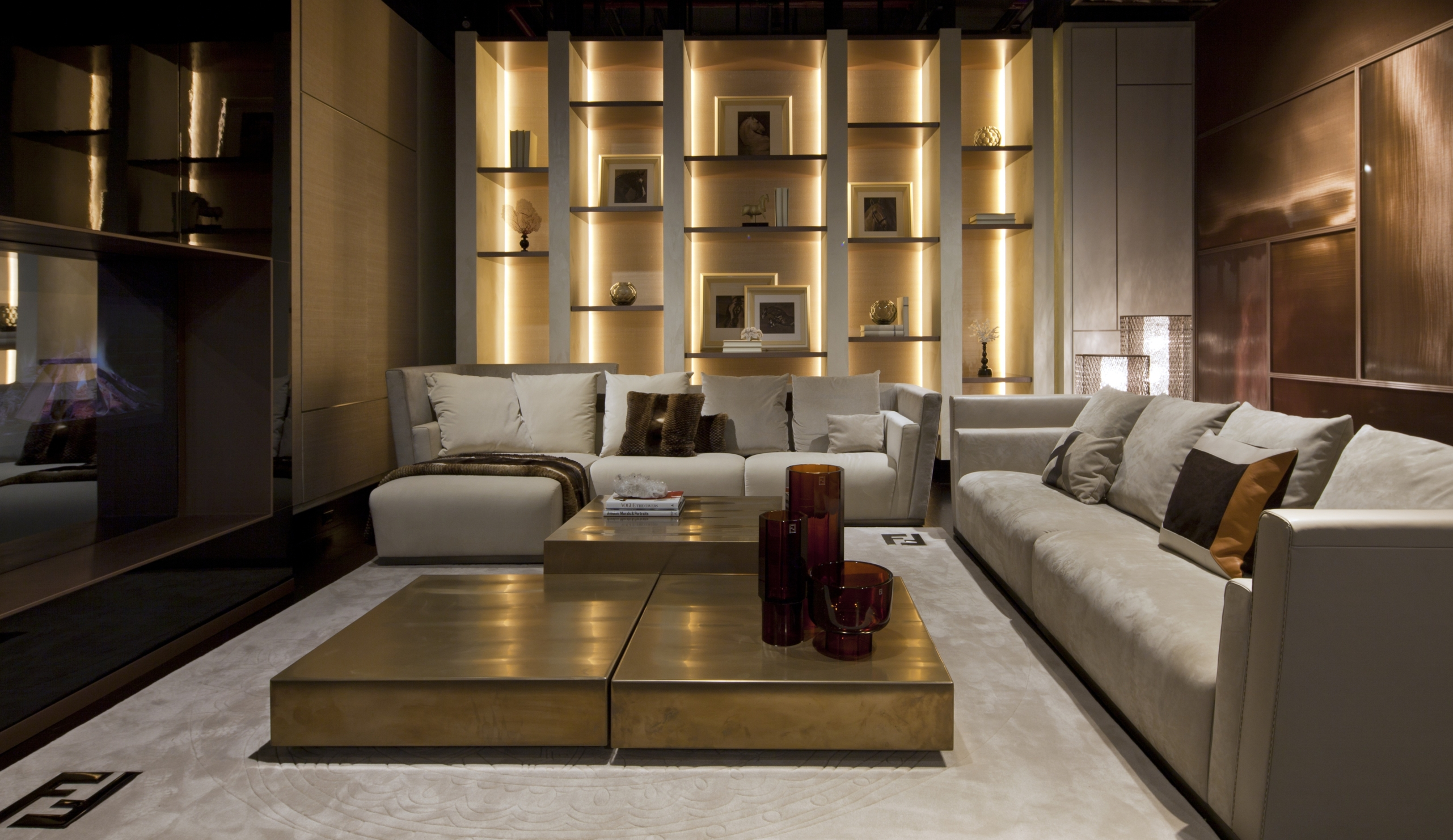 Luxury living home to fendi casa and bentley home for Home interior living room