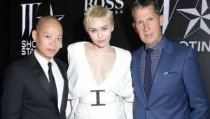 STEFANO TONCHI & MILEY CYRUS HOST W MAGAZINE'S Shooting Stars Exhibit Opening in LA with HUGO BOSS and The Cosmopolitan of Las Vegas